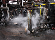 Industrial Pumping Units With Steam Escape And Environmental Issues.