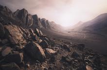 Parched Desert Landscape In Mo...