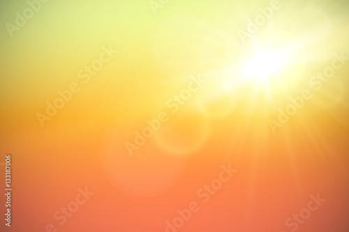 Fototapeta Sun with lens flare, vector illustration. obraz na płótnie