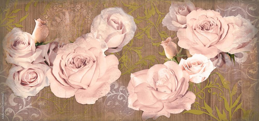Цветы декоративное панно