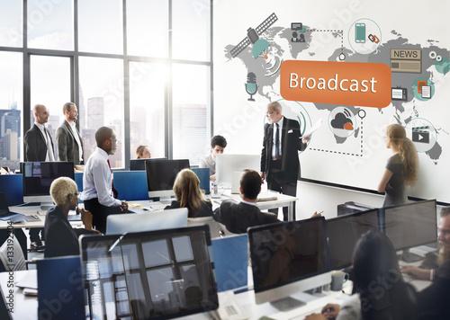 Broadcast Communication Entertainment News Concept Tapéta, Fotótapéta