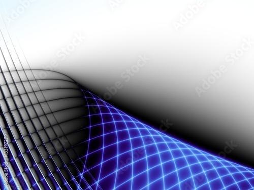 swiecaca-sie-niebieska-siatka-na-bialym-tle-abstrakcyjna-grafika
