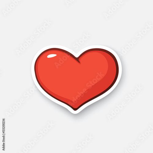 Vector Illustration Simple Heart Valentines Day Symbol I Love