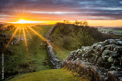 Valokuvatapetti Hadrian's Wall, Northumberland