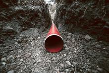 Red Sanitation  Pipe
