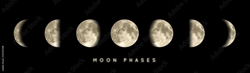 Fototapeta Phases lunaires vectorielles 1