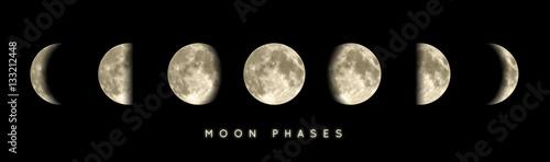Phases lunaires vectorielles 1 Wallpaper Mural