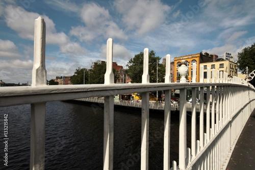 Half Penny bridge on river Liffey in Dublin, Ireland Poster