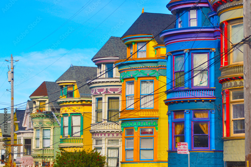 Fototapeta San Francisco Painted Victorian Houses