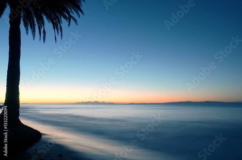 Spoed Foto op Canvas Caraïben Dawn breaks over Refugio State Beach near Goleta, CA, USA.
