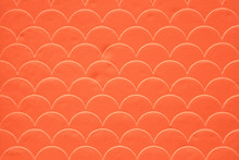 Fish Scale Seamless Pattern On Decorated Cement Wall