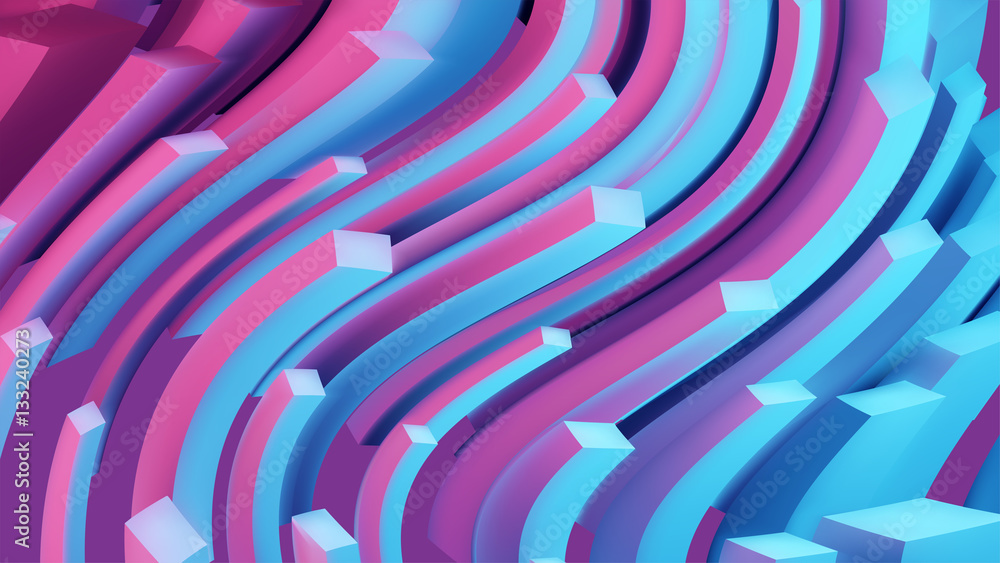 Fototapety, obrazy: Abstract lines. Flow background. 3d vector wave illustration.