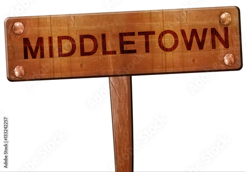 Photo  middletown road sign, 3D rendering