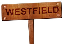 Westfield Road Sign, 3D Rendering
