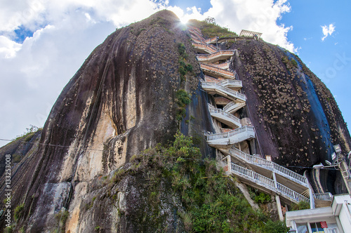 Rock of Guatape (Piedra de Penol) near to Medellin in Colombia