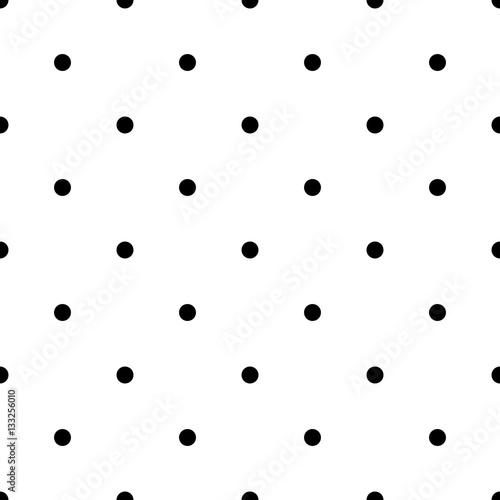 Photo  Seamless rockabilly polka dot vector pattern
