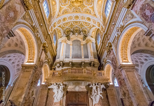 Ornate organ of the Church of San Luigi dei Francesi in Rome Tableau sur Toile