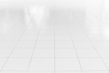 White Tile Floor With Geometri...