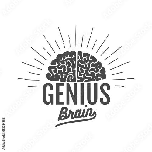genius brain logo Wallpaper Mural