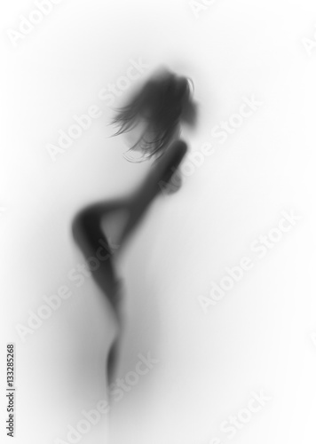 Piękne i seksowne długie włosy szczupła sylwetka ciała kobiety.