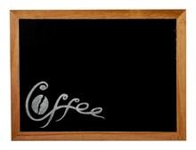 Handwritten Lettering Inscription Coffee On A Chalkboard