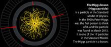 Higgs Boson In Large Hadron Collider. Description. Vector Illustration.