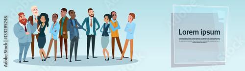 Fotografía  Business People Team Mix Race Businesspeople Group Flat Vector Illustration