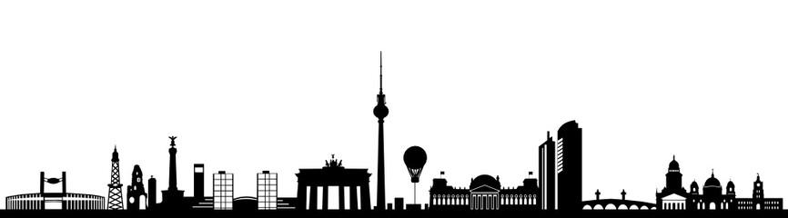 Panel Szklany Podświetlane Berlin Skyline Berlin
