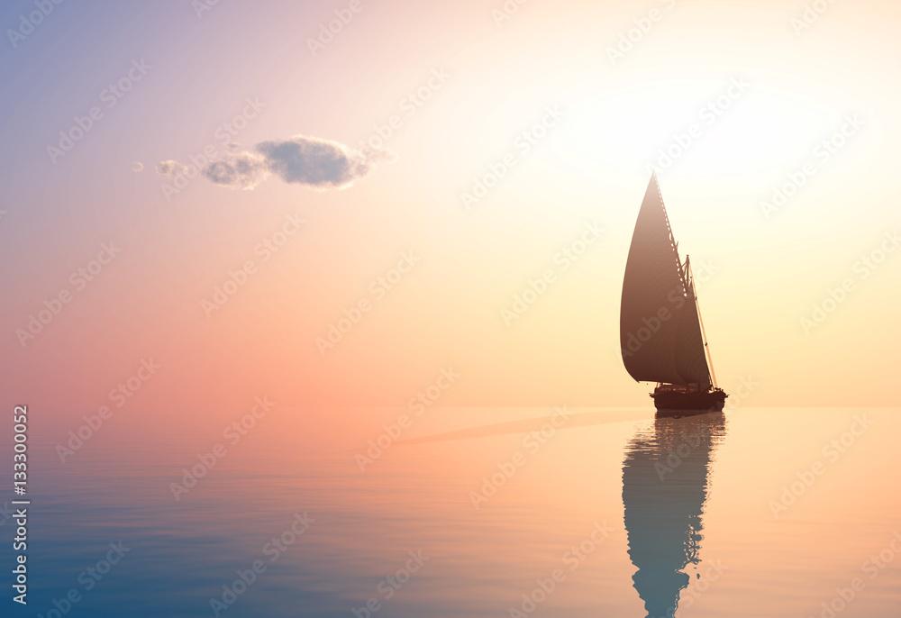Fototapeta The yacht
