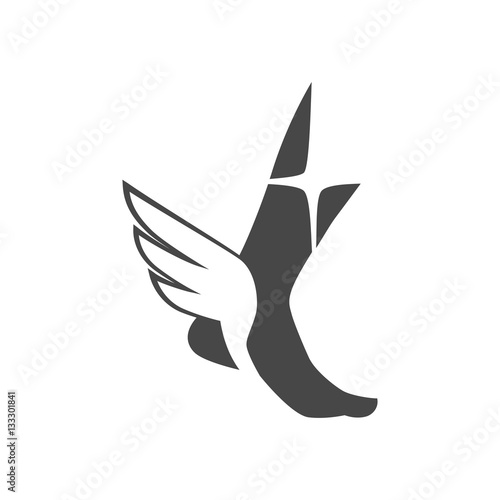 Fotografie, Obraz Foot with wings