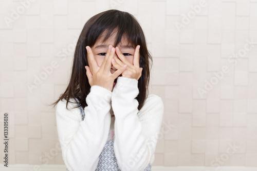 Fotografie, Obraz  怖がる女の子