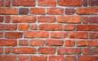 Leinwandbild Motiv Red brick wall texture grunge background