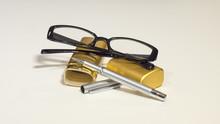 Elegant Black Glasses, Case, M...