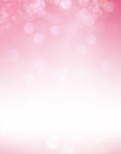 Abstract Bokeh Pink Light Background