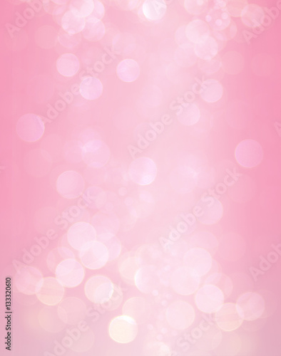 Abstract Bokeh Light Pink Color Background