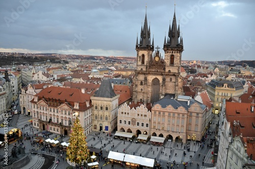 Staande foto Praag Architecture from Prague in Christmas and cloudy sky