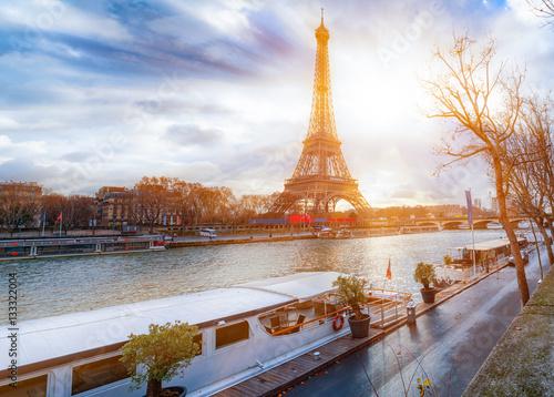 Printed kitchen splashbacks Eiffel Tower an der Seine