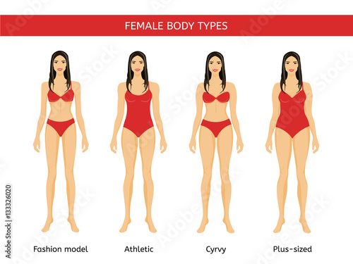 820773898da Set of Female body types  fashion model
