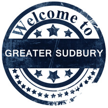 Greater Sudbury Stamp On White Background