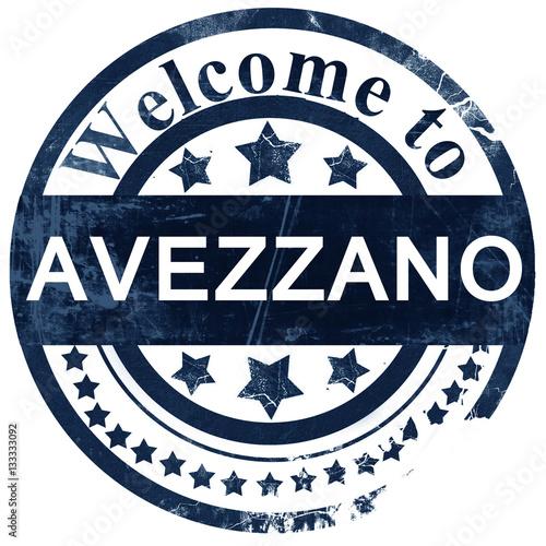 Photo Avezzano stamp on white background