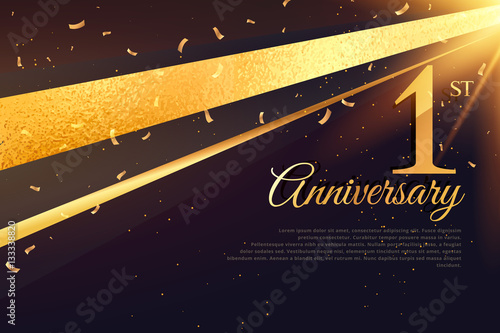 St anniversary celebration card template buy this stock vector