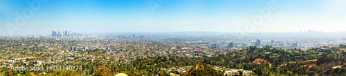 Foto auf Leinwand Los Angeles Skyline, Los Angeles panorama