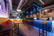 Interior of a night club with pallet furniture