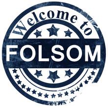Folsom Stamp On White Background