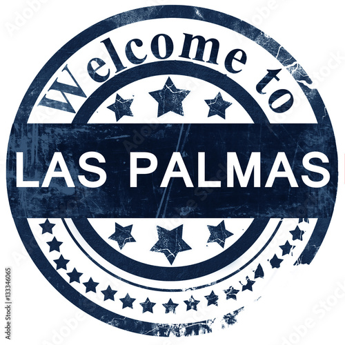 las palmas stamp on white background