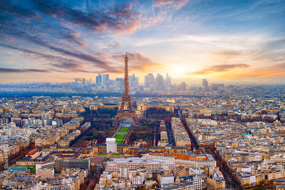 Fototapety, obrazy: Paris im Sonnenuntergang
