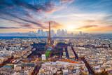 Fototapeta Fototapety Paryż - Paris im Sonnenuntergang