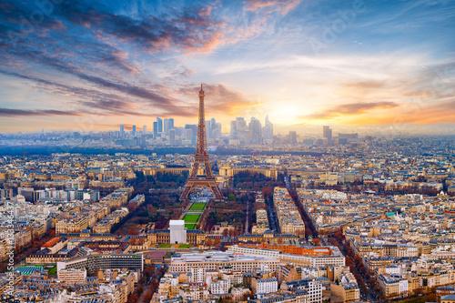 Poster de jardin Paris Paris im Sonnenuntergang
