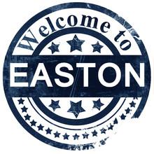 Easton Stamp On White Background