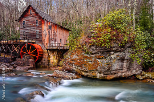 Photo  Gristmill and flowing water, West Virginia